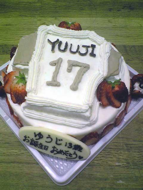ユニフォーム型ケーキ